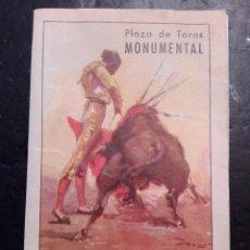 Carteles Toros: BARCELONA PLAZA DE TOROS MONUMENTAL. 1955. BERNADO CHAMACO RAFAELILLO. Lote 120569207