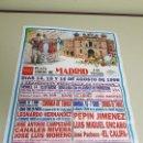 Carteles Toros: 1018- CARTEL TOROS PLAZA DE LAS VENTAS 14-15 Y 16 AGOSTO 1998 T-21. Lote 120677031