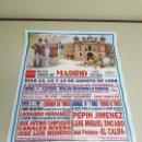 Carteles Toros: 1018- CARTEL PLAZA DE TOROS LAS VENTAS 14-15Y 16 AGOSTO 1998 T-22. Lote 120677315