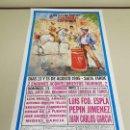 Carteles Toros: 1018-CARTEL PLAZA DE TOROS LAS VENTAS 15-15 AGOSTO 1995 T30. Lote 120892671