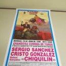 Carteles Toros: 1018- CARTEL PLAZA DE TOROS LAS VENTAS 23 JUNIO 1996 T39. Lote 120917079
