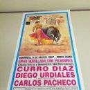 Carteles Toros: 1018- CARTEL PLAZA DE TOROS LAS VENTAS 9 MARZO 1997 T42. Lote 120917723