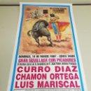 Carteles Toros: 1018- CARTEL PLAZA DE TOROS LAS VENTAS 16 MARZO 1997 T43. Lote 120918331