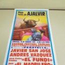 Carteles Toros: 1018- CARTEL PLAZA DE TOROS AJALVIR 16 FEBRERO 1997 T46. Lote 120922267