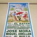 Carteles Toros: 1018- CARTEL PLAZA DE TOROS EL BATAN 22 SEPTIEMBRE 1996 T47. Lote 120922547