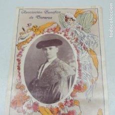 Carteles Toros: CARTEL DESPEDIDA RICARDO TORRES (BOMBITA) 1913- ASOCIACIÓN BENÉFICA TOREROS -- REPRODUCCIÓN. Lote 126590775
