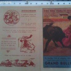 Carteles Toros: VALENCIA PLAZA DE TOROS-GRAND BULLFIGHT 1952. Lote 121341043