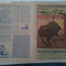 Carteles Toros: VALENCIA PLAZA DE TOROS- 1956. Lote 121342887