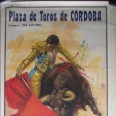 Carteles Toros: CARTEL TOROS, PLAZA CORDOBA, 1958, GREGORIO SANCHEZ, CURRO GIRON, JAIME OSTOS, REUS. Lote 122001507