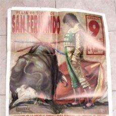 Carteles Toros: CARTEL DE TOROS. SAN FERNANDO (CÁDIZ) AÑO 1991. TIENTA PARA ALUMNOS DE LA ESCUELA TAURINA. Lote 122143247