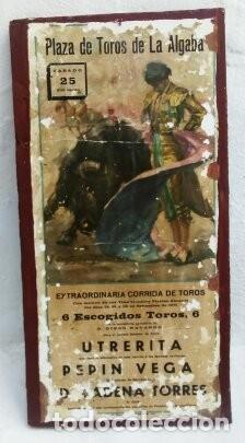 CARTEL DE TOROS DE ALGABA (Coleccionismo - Carteles Gran Formato - Carteles Toros)