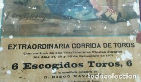 Carteles Toros: CARTEL DE TOROS DE ALGABA - Foto 2 - 122217335