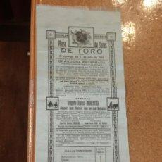 Carteles Toros: PRECIOSO CARTEL EN SEDA PLAZA DE TOROS DE TORO ZAMORA, 1928 MORENITO, ROSICO Y RIOJANITO.. Lote 122552559