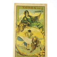 Carteles Toros: CARTEL DE TOROS,VALENCIA,GALLO,BELMONTE,MEJIAS,VILLALTA,AGUERO. JULIO DEL 25 AL 31.AÑO 1926.. Lote 123097771