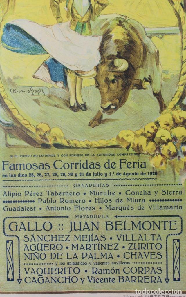 Carteles Toros: CARTEL DE TOROS,VALENCIA,GALLO,BELMONTE,MEJIAS,VILLALTA,AGUERO. JULIO DEL 25 AL 31.AÑO 1926. - Foto 6 - 123097771