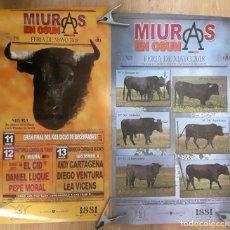 Carteles Toros: CARTEL TOROS MADRID MIURAS OSUNA. Lote 123386451