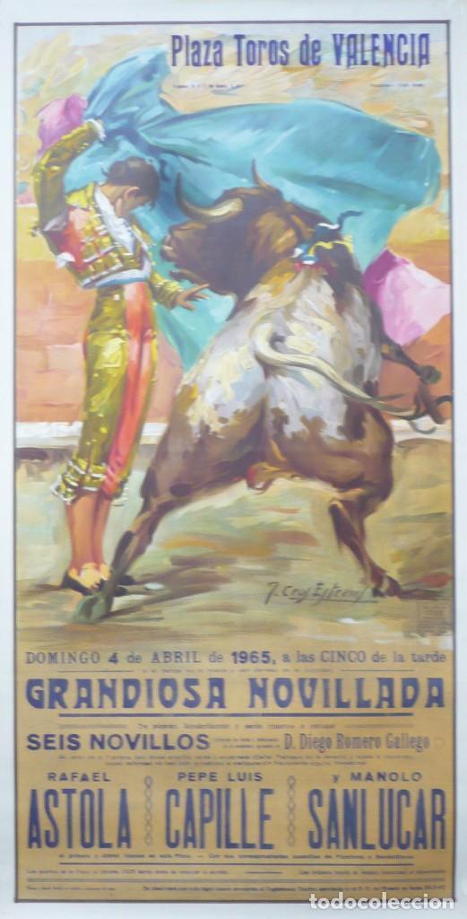 CARTEL PLAZA DE TOROS DE VALENCIA 1965. (Coleccionismo - Carteles Gran Formato - Carteles Toros)