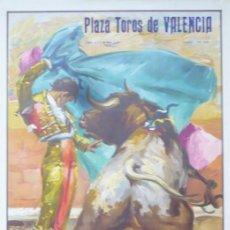 Carteles Toros: CARTEL PLAZA DE TOROS DE VALENCIA 1965.. Lote 124486387