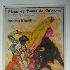 Carteles Toros: CARTEL PLAZA DE TOROS DE VALENCIA AÑO 1964. Lote 124486879