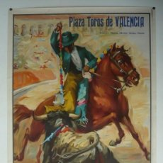 Carteles Toros: CARTEL PLAZA DE TOROS DE VALENCIA - AÑO 1964. Lote 124488395