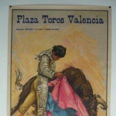 Carteles Toros: CARTEL PLAZA TOROS VALENCIA - AÑO 1964. Lote 124488483