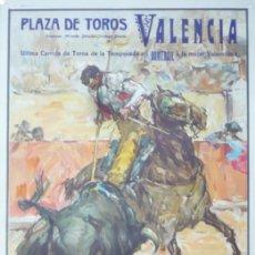 Carteles Toros: CARTEL PLAZA DE TOROS VALENCIA - AÑO 1964. Lote 124488523