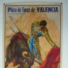Carteles Toros: CARTEL PLAZA DE TOROS DE VALENCIA - AÑO 1964. Lote 124488639