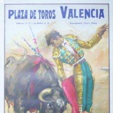 Carteles Toros: CARTEL PLAZA DE TOROS VALENCIA - AÑO 1966. Lote 124488735