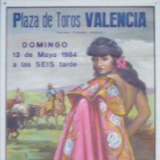 Carteles Toros: CARTEL PLAZA DE TOROS DE VALENCIA - AÑO 1984. Lote 124489927