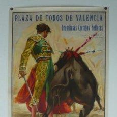 Carteles Toros: CARTEL PLAZA DE TOROS DE VALENCIA - GRANDIOSAS CORRIDAS FALLERAS 1965. Lote 124490215