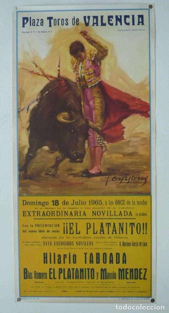 CARTEL PLAZA TOROS DE VALENCIA - AÑP 1965 (Coleccionismo - Carteles Gran Formato - Carteles Toros)