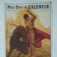 Carteles Toros: CARTEL PLAZA TOROS DE VALENCIA - AÑP 1965. Lote 124490659