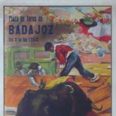 Carteles Toros: CARTEL PLAZA TOROS DE BADAJOZ. Lote 124497683