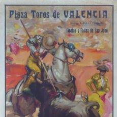Carteles Toros: CARTEL PLAZA TOROS DE VALENCIA. AÑO 1954. 104 X 54 CM.-. Lote 124500055