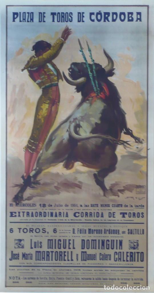 CARTEL PLAZA DE TOROS DE CÓRDOBA - AÑO 1951 - 106 X 54 CM. (Coleccionismo - Carteles Gran Formato - Carteles Toros)