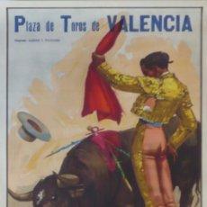 Carteles Toros: CARTEL PLAZA DE TOROS DE VALENCIA . AÑO 1957 - 107 X 53 CM.. Lote 124501199