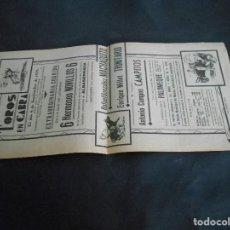 Carteles Toros: CARTEL DE TOROS 1939 MACHAQUITO. Lote 125221107