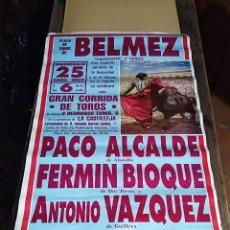 Carteles Toros: CARTEL PLAZA TOROS BELMEZ 1993 ALCALDE BIOQUE VAZQUEZ. Lote 125419551