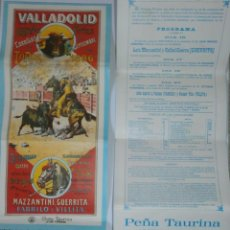 Carteles Toros: LOTERIA TAURINA VALLADOLID 1978 DOS BOLETOS DE CARTEL 1896. Lote 127187631