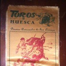 Carteles Toros: CARTEL SEDA TOROS EN HUESCA 1961 CURRO ROMERO EL VITI JAIME OSTOS . Lote 127483147