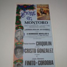 Carteles Toros: 1. CARTEL PLAZA DE TOROS DE MONTORO 1989. Lote 127582431