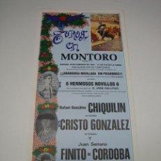 Carteles Toros: 1. CARTEL PLAZA DE TOROS DE MONTORO. Lote 127583903