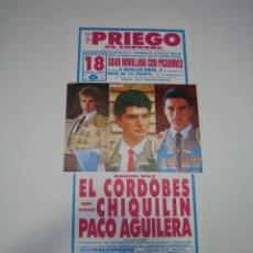 Carteles Toros: 1. CARTEL PLAZA DE TOROS DE PRIEGO DE CORDOBA. Lote 127672943