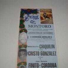 Carteles Toros: 1. CARTEL PLAZA DE TOROS DE MONTORO. Lote 127750507