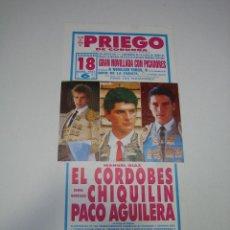 Carteles Toros: 1. CARTEL PLAZA DE TOROS DE PRIEGO DE CORDOBA. Lote 127789927