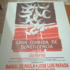 Carteles Toros: CARTEL DE TOROS GRAN CORRIDA DE BENEFICENCIA 1989 LAS VENTAS. Lote 128388391