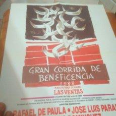 Carteles Toros: CARTEL DE TOROS GRAN CORRIDA DE BENEFICENCIA 1989 LAS VENTAS. Lote 128388464