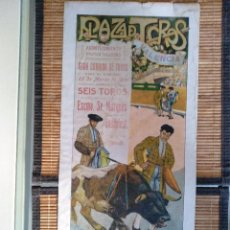 Carteles Toros: CARTEL DE TOROS. GALLITO. 29 MARZO 1914. VALENCIA. JUAN BELMONTE. GALLITO. POSADA. Lote 128600963