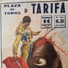 Carteles Toros: 1983 CARTEL PLAZA TOROS DE TARIFA 11 SEPTIEMBRE 1983 MED 55X110 CTM. Lote 127691967