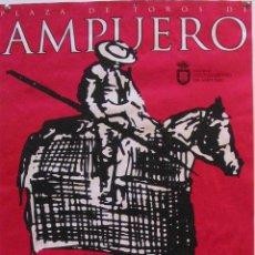 Carteles Toros: 2000 CARTEL PLAZA TOROS DE AMPUERO 17 JUNIO 2000 MED 44X97 CTM. Lote 127692295